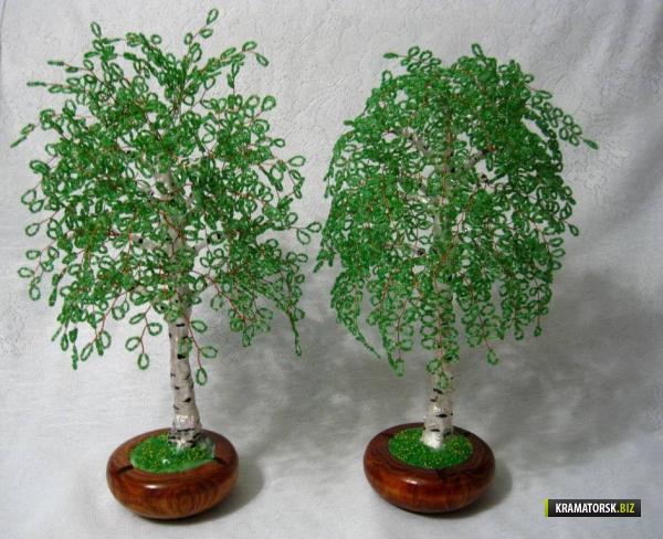 Дерево с бисера своими руками схемы