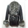 Продаётся кожаная  куртка,  мех енот подстёжка кролик